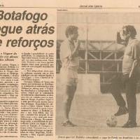 "The Newspaper ""Jornal dos Sports"" from Rio de Janeiro said: Carlos Alberto Torres wants Toninho to be the leader of Botafogo's Defense during the Brazilian Championship"